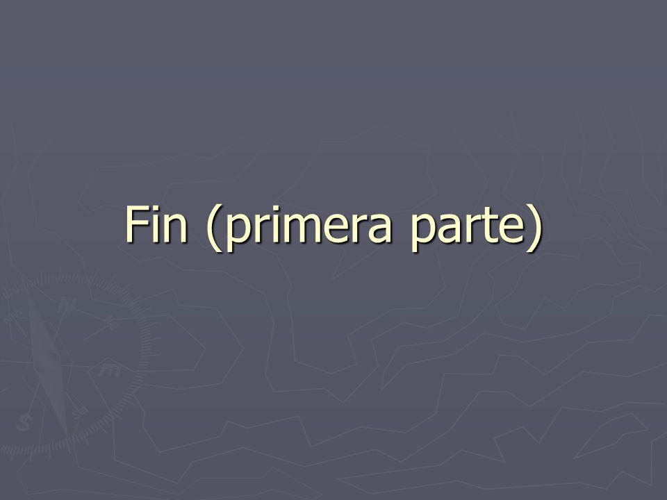 Fin (primera parte)