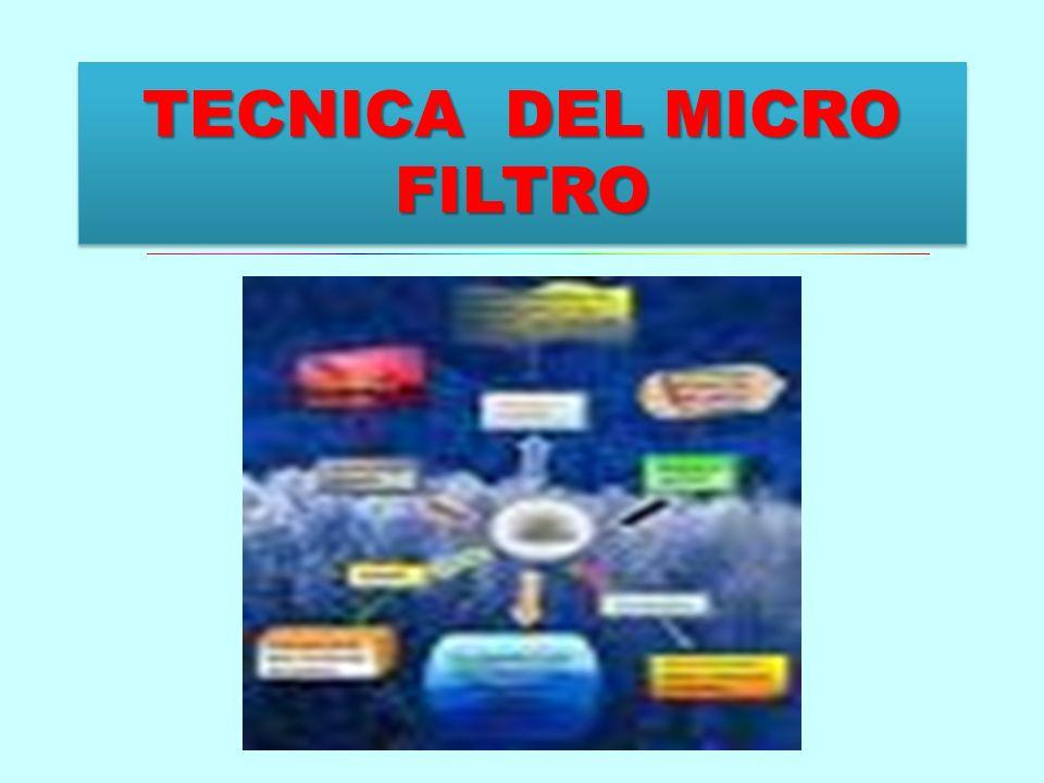 TECNICA DEL MICRO FILTRO