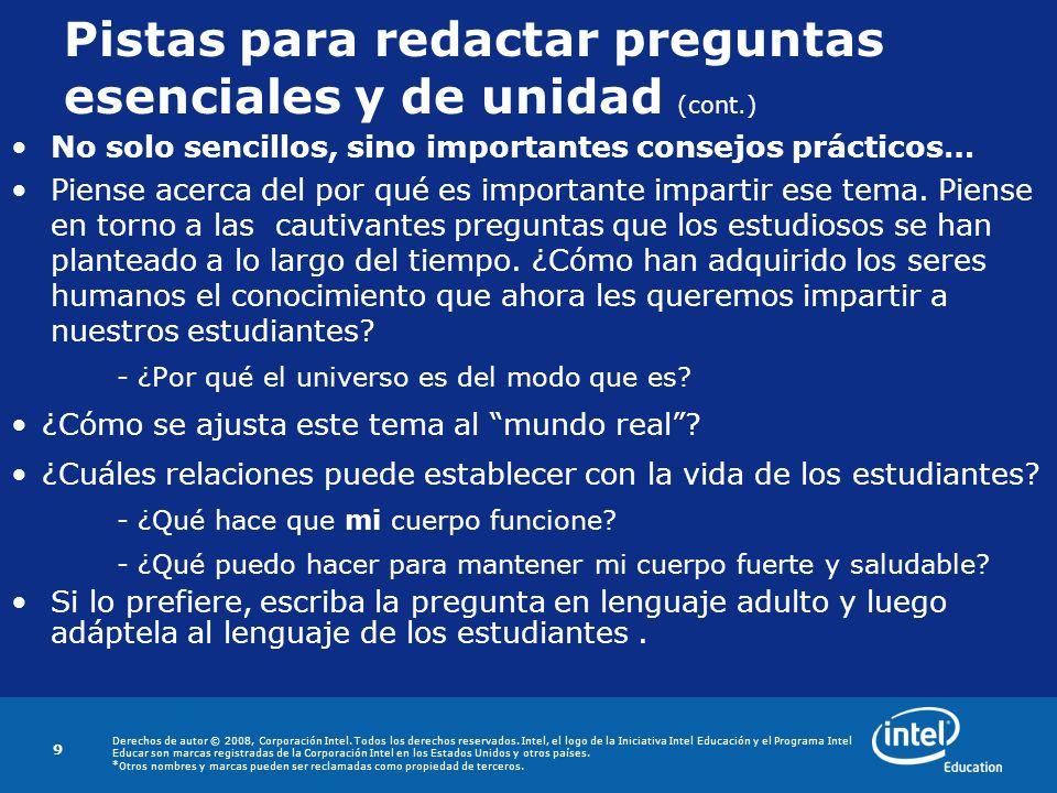 Derechos de autor © 2008, Corporación Intel.Todos los derechos reservados.