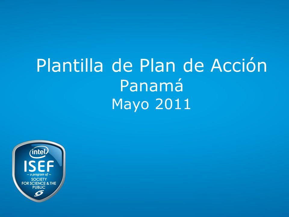 Plantilla de Plan de Acción Panamá Mayo 2011