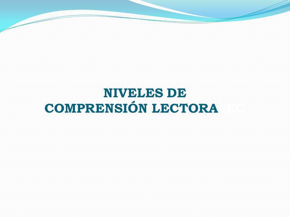 NIVELES DE COMPRENSIÓN LECTORALEC