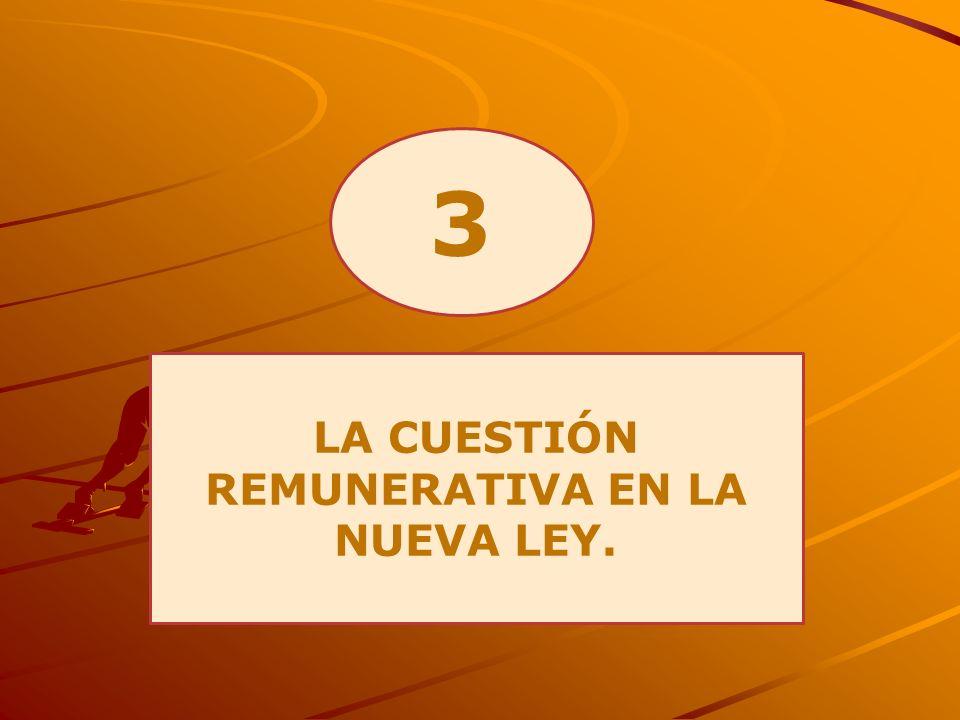 3 LA CUESTIÓN REMUNERATIVA EN LA NUEVA LEY.