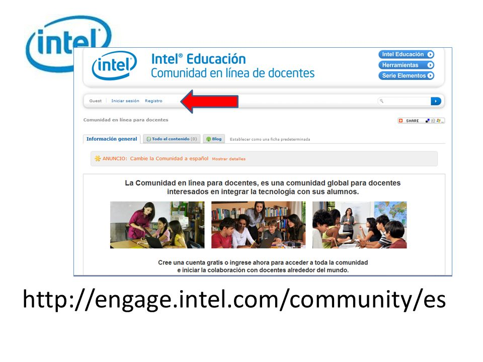 http://engage.intel.com/community/es