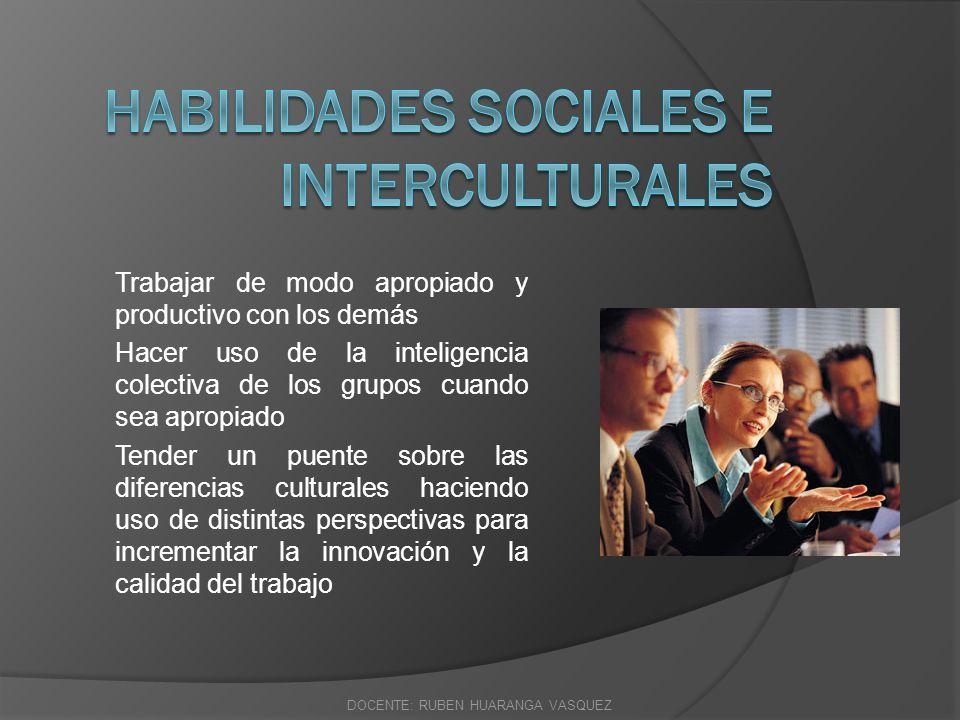 HABILIDADES DEL SIGLO XXI HABILIDADES PARA LA VIDA PERSONAL Y PROFESIONAL DOCENTE: RUBEN HUARANGA VASQUEZ