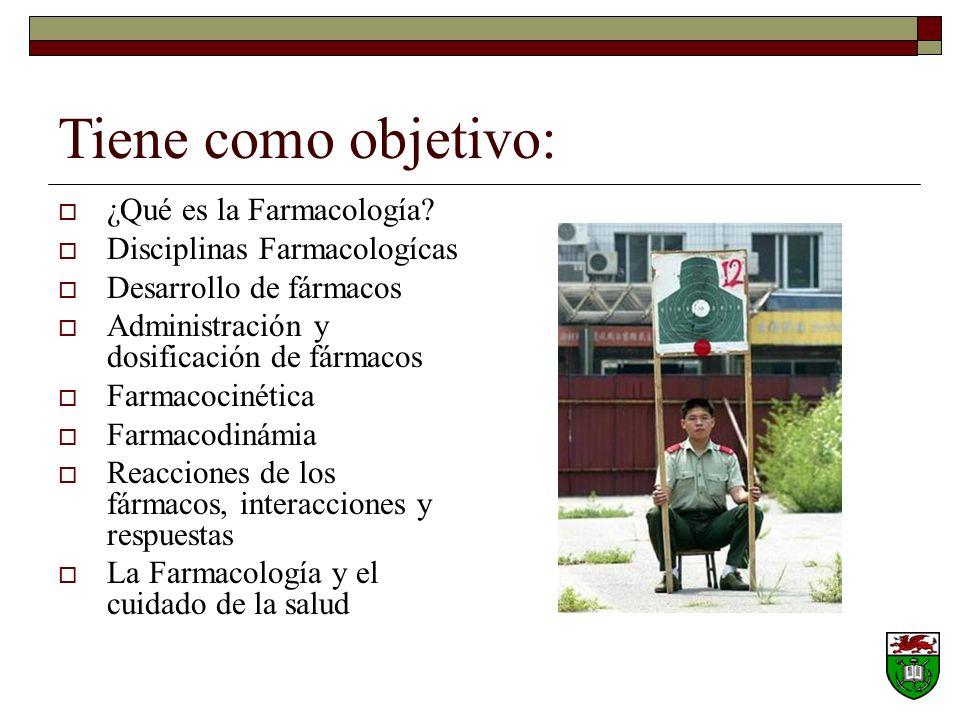 Tiene como objetivo: ¿Qué es la Farmacología.