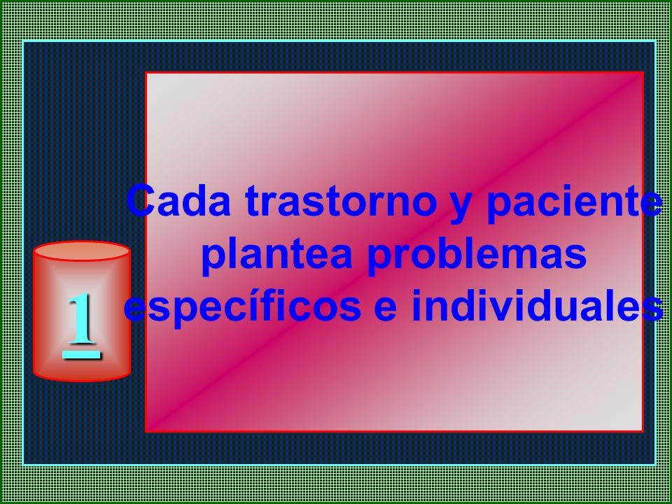 1 Cada trastorno y paciente plantea problemas específicos e individuales