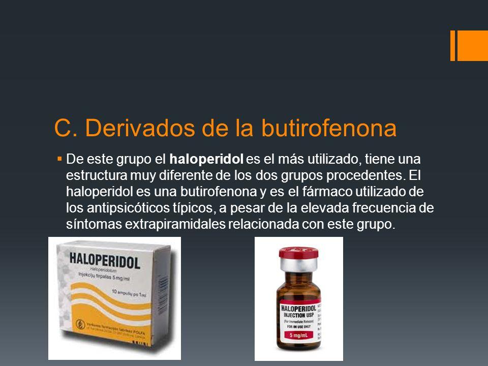 B. Derivados del tioxanteno El tiotixeno es un fármaco de este grupo.