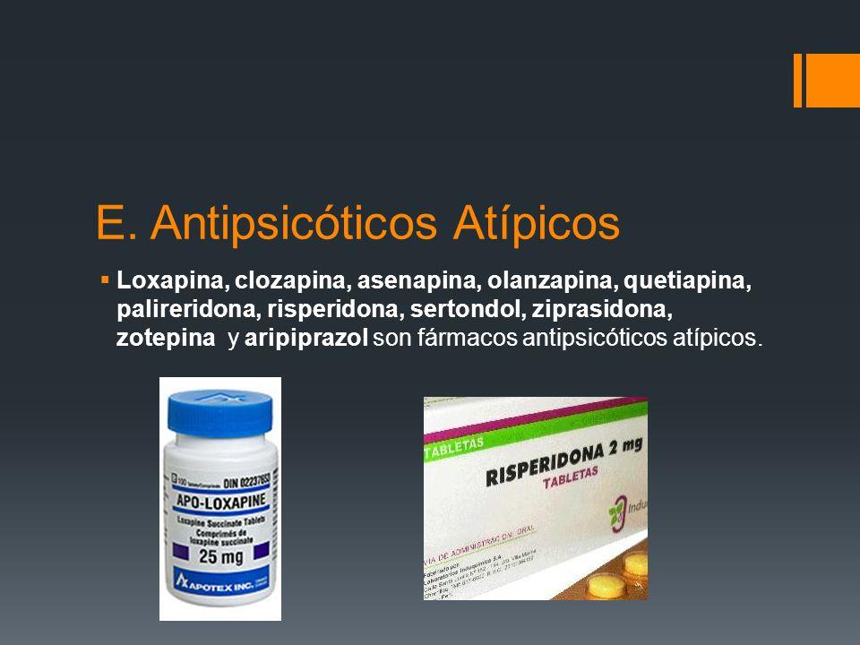 D. Estructuras diversas La pimocida y la molindona son fármacos antipsicóticos típicos. No hay diferencia significativa en la eficacia entre estos nue