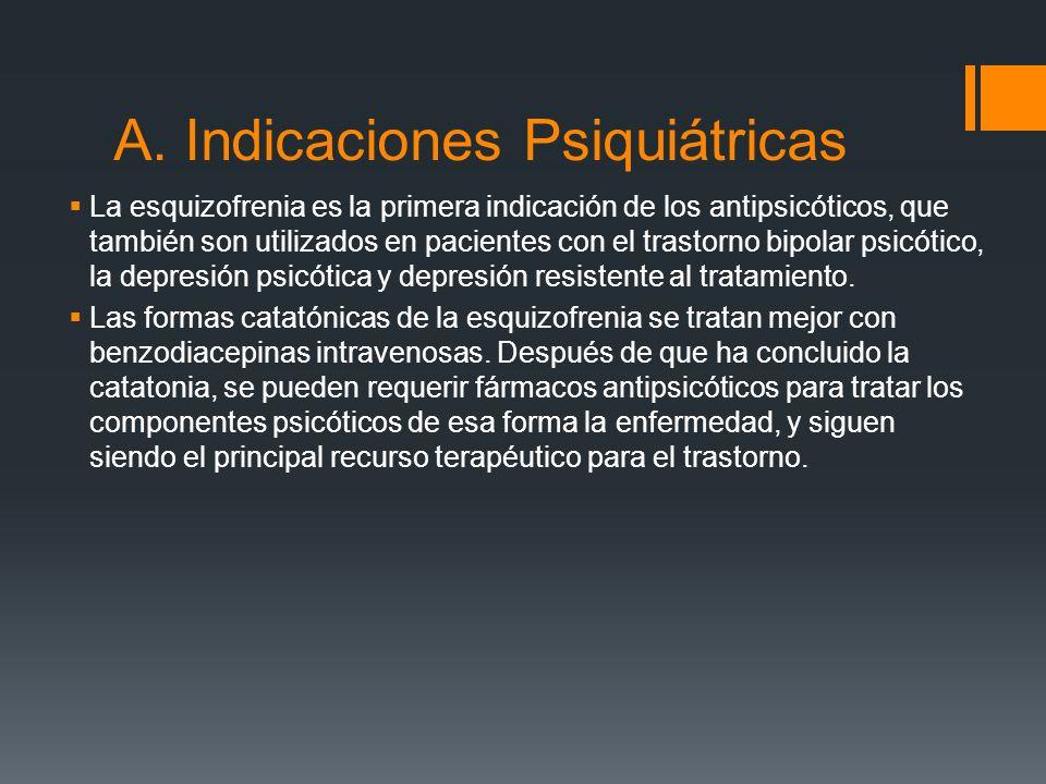 Farmacología Clínica de los Antipsicóticos INDICACIONES