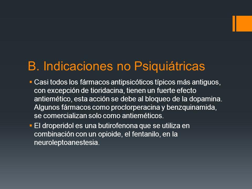 Los fármacos antipsicóticos también están indicados para los trastornos esquizoafectivos, que comparten características de esquizofrenia y trastornos