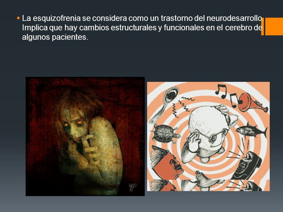 La esquizofrenia se considera como un trastorno del neurodesarrollo.