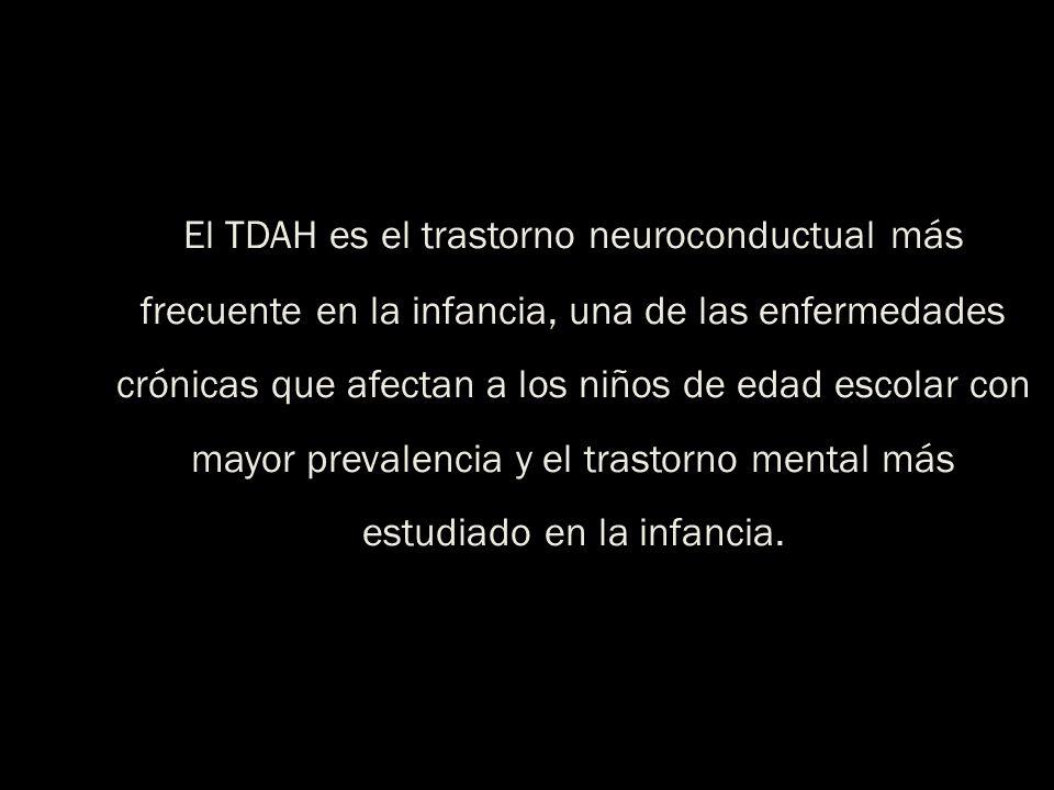 El TDAH es el trastorno neuroconductual más frecuente en la infancia, una de las enfermedades crónicas que afectan a los niños de edad escolar con may