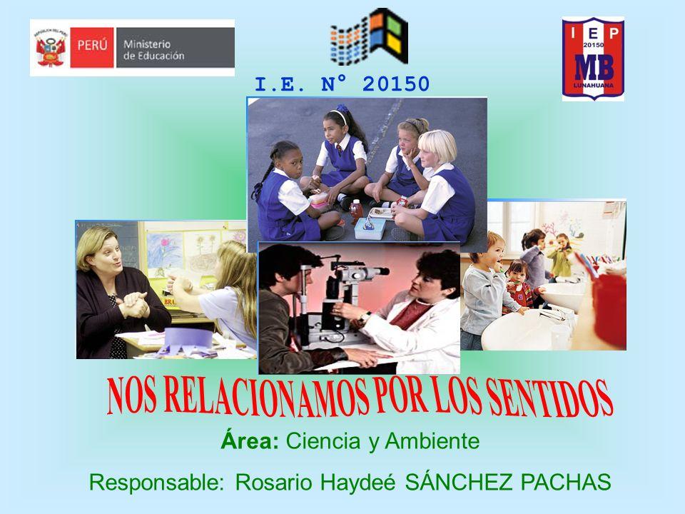 I.E. N° 20150 Área: Ciencia y Ambiente Responsable: Rosario Haydeé SÁNCHEZ PACHAS