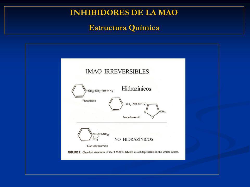 INHIBIDORES DE LA MAO Estructura Química