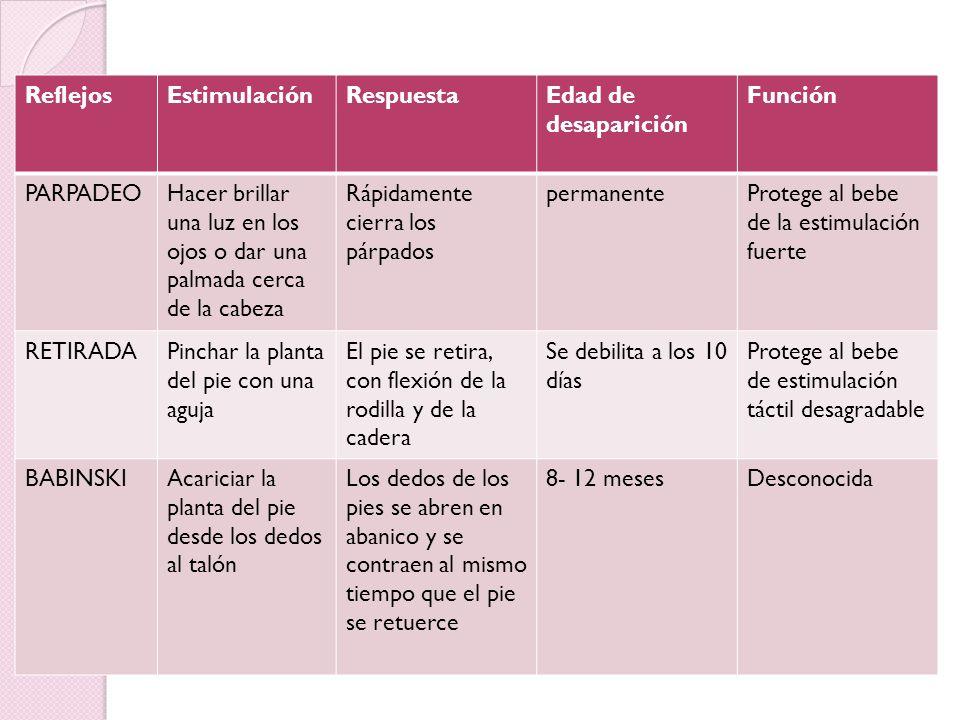 Evaluación de la Conducta Neonatal 1. Se evalúan reflejos