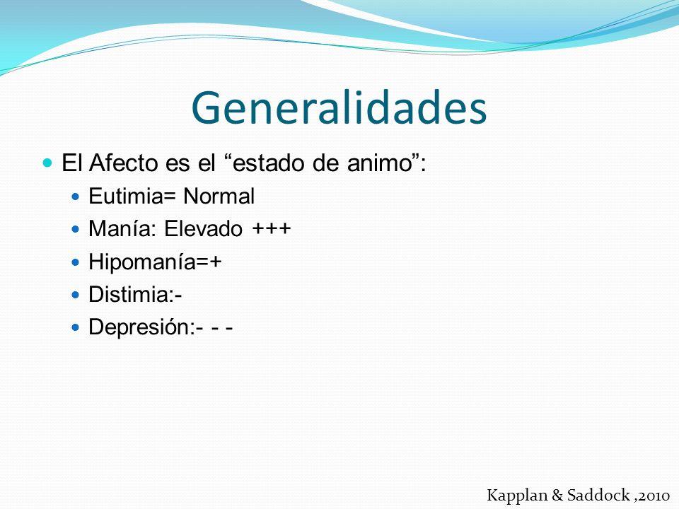 La depresión es una enfermedad del afecto, es decir del estado del animo.