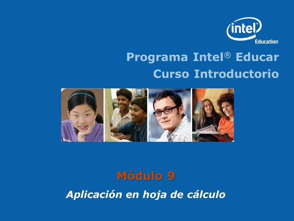 Programa Intel ® Educar Curso Introductorio Módulo 9 Aplicación en hoja de cálculo