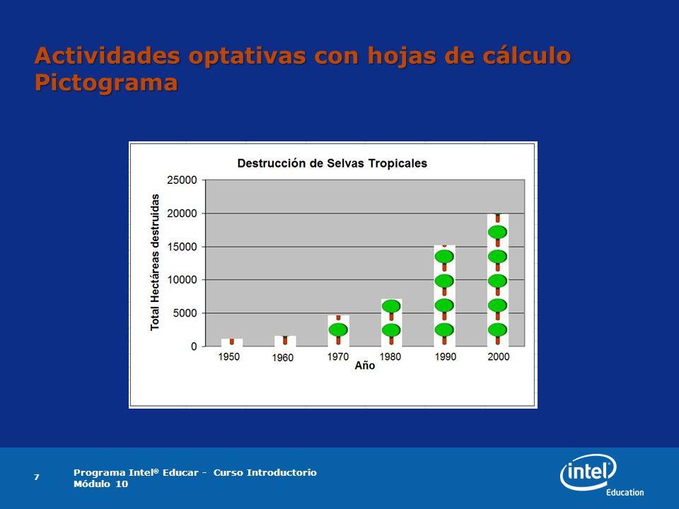 Programa Intel ® Educar - Curso Introductorio Módulo 10 8 Actividades optativas con hojas de cálculo Registro de asistencia