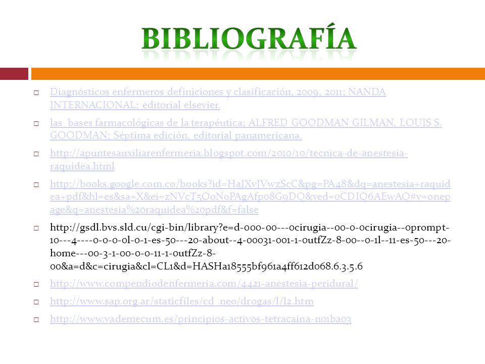 Diagnósticos enfermeros definiciones y clasificación, 2009, 2011; NANDA INTERNACIONAL; editorial elsevier. Diagnósticos enfermeros definiciones y clas