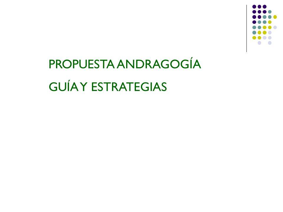 PROPUESTA ANDRAGOGÍA GUÍA Y ESTRATEGIAS