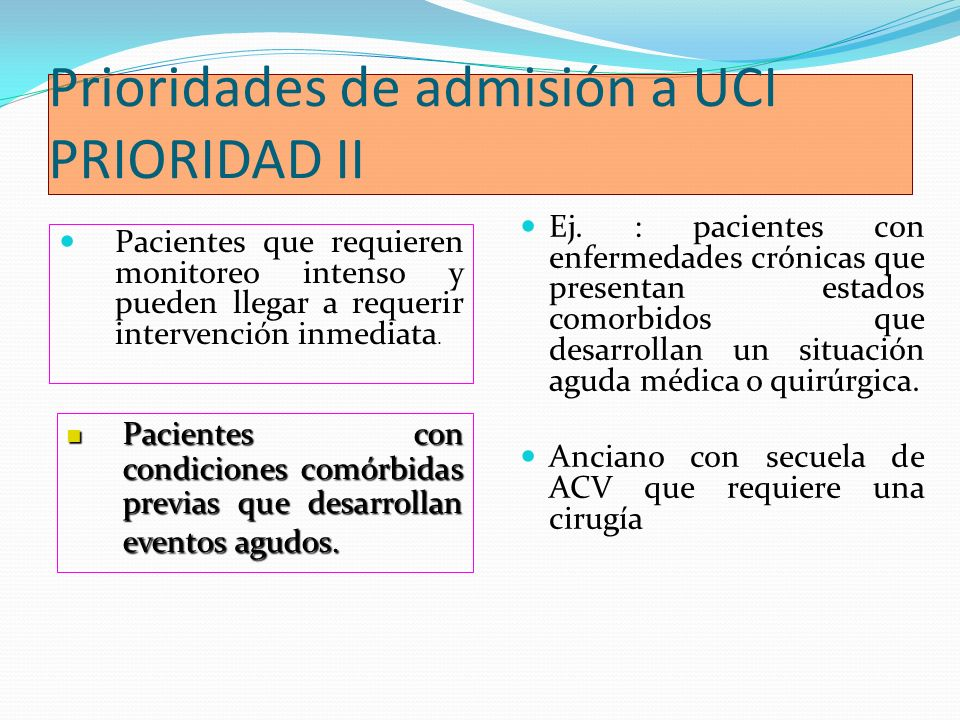 Modelo por parámetros objetivos Valores de laboratorio Sodio sérico 170 mEq/L Potasio sérico 7 mEq/L PaO2 7.7 Glicemia > 800 mg/dL Calcemia > 15 mg/dL Niveles tóxicos de drogas u otra sustancia química en un paciente.