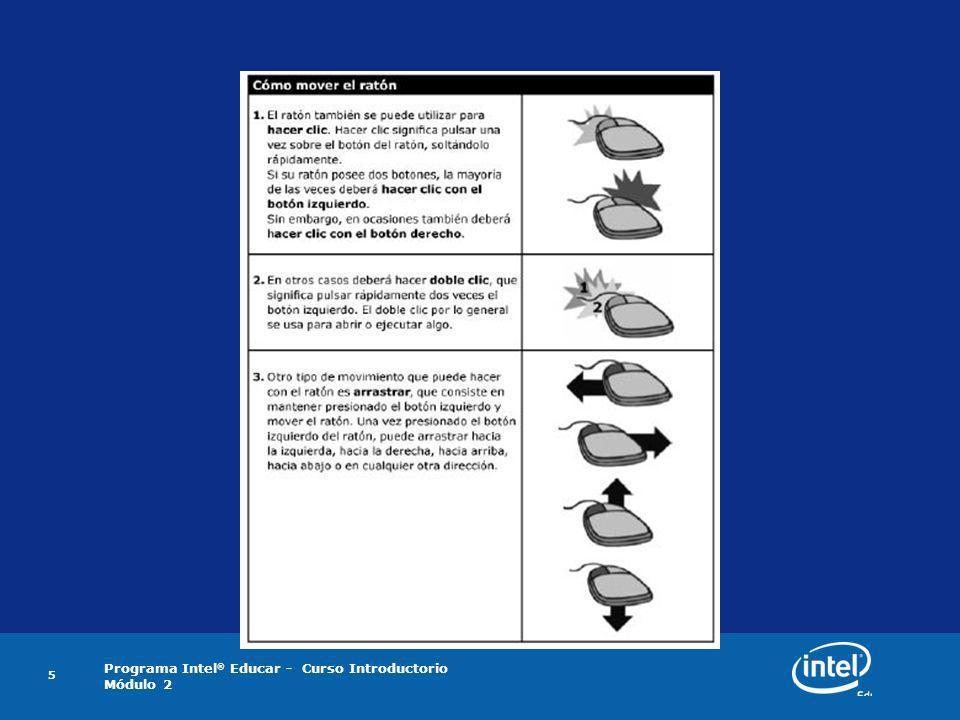 Programa Intel ® Educar - Curso Introductorio Módulo 2 6 Actividad 2: Trabajar con el Sistema Operativo Windows S.O.