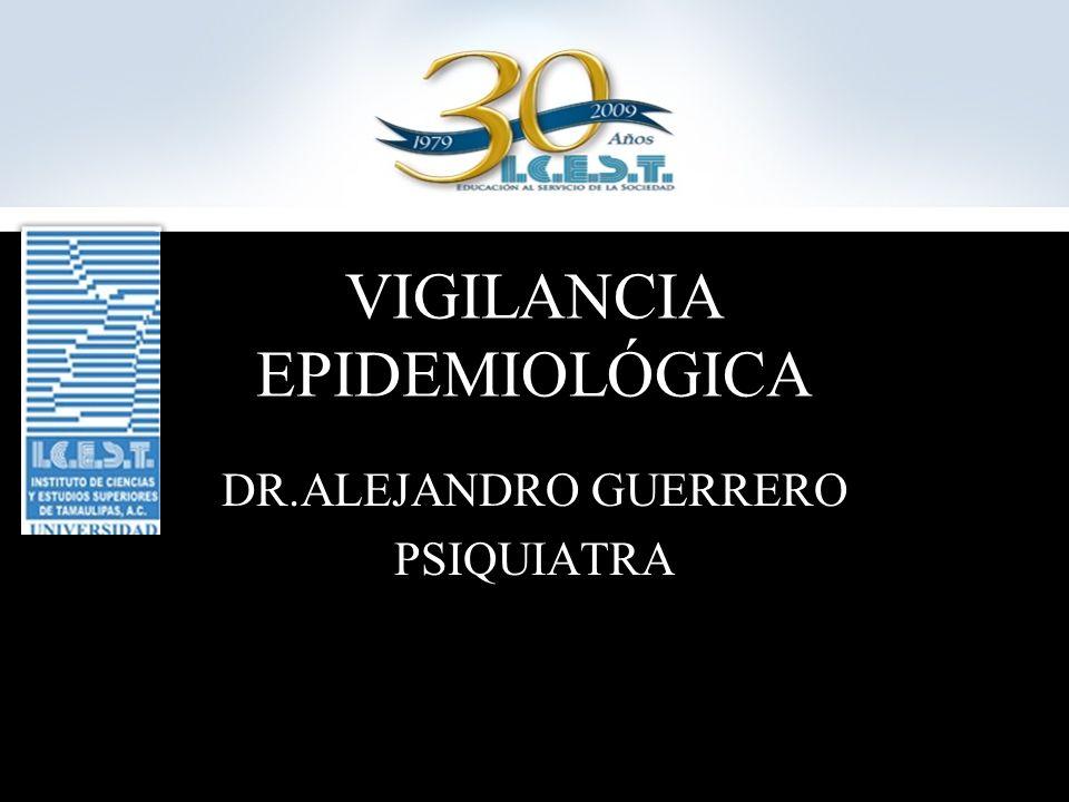 VIGILANCIA EPIDEMIOLÓGICA DR.ALEJANDRO GUERRERO PSIQUIATRA