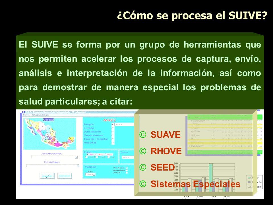 ©SUAVE ©RHOVE ©SEED ©Sistemas Especiales El SUIVE se forma por un grupo de herramientas que nos permiten acelerar los procesos de captura, envío, anál