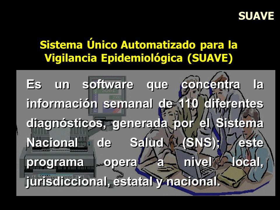 Es un software que concentra la información semanal de 110 diferentes diagnósticos, generada por el Sistema Nacional de Salud (SNS); este programa ope