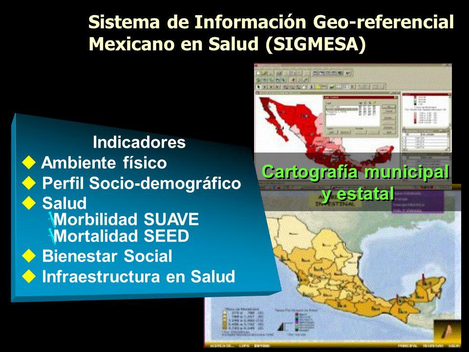 Sistema de Información Geo-referencial Mexicano en Salud (SIGMESA) Sistema de Información Geo-referencial Mexicano en Salud (SIGMESA) Cartografía muni