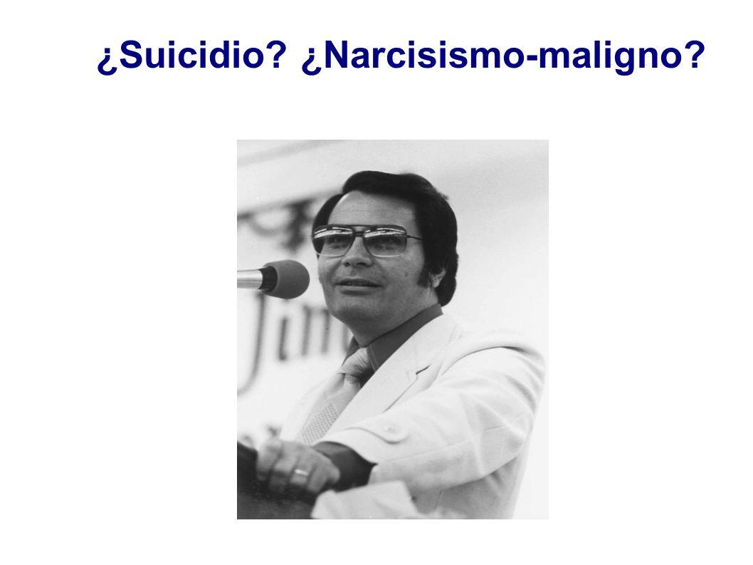 ¿Suicidio? ¿Narcisismo-maligno?