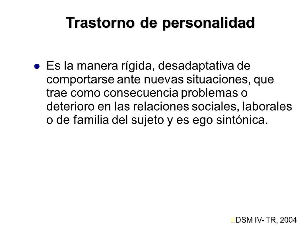 Grupo C Aquí se en listan los trastornos de personalidad por evitación, obsesivo-compulsivo y dependiente.