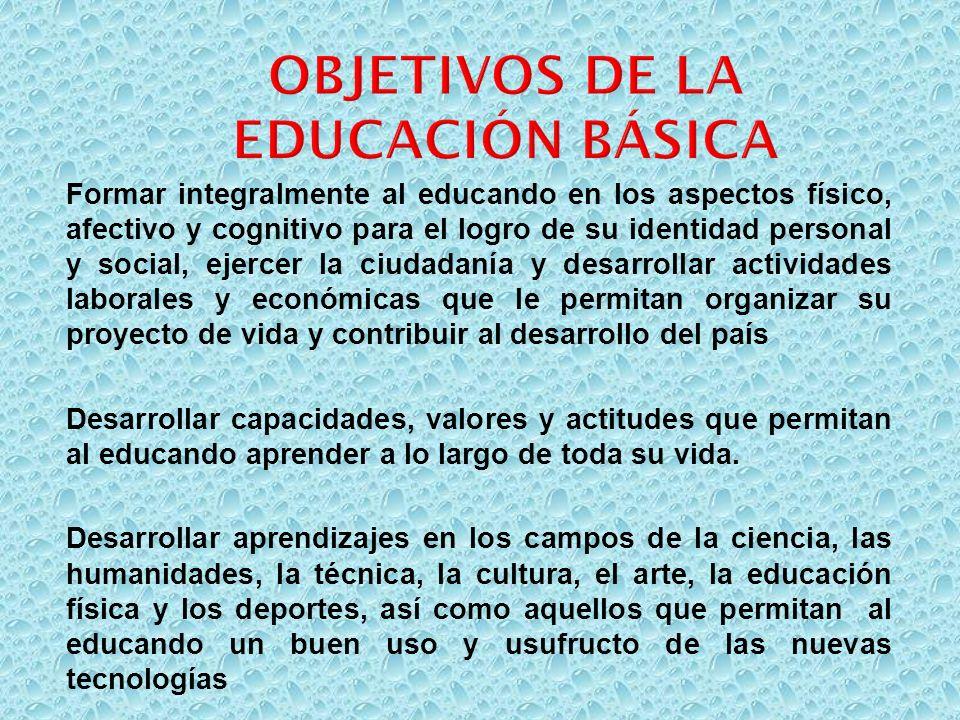 Formar integralmente al educando en los aspectos físico, afectivo y cognitivo para el logro de su identidad personal y social, ejercer la ciudadanía y