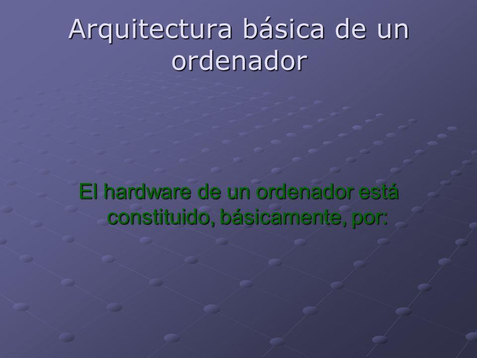 Arquitectura básica de un ordenador El hardware de un ordenador está constituido, básicamente, por: