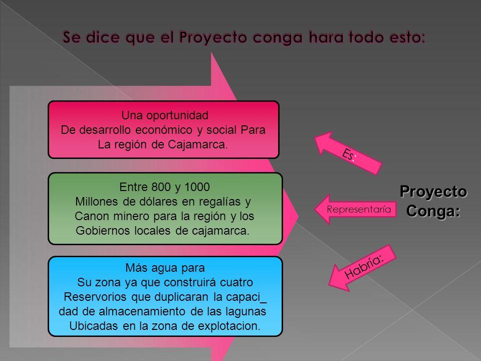 Una oportunidad De desarrollo económico y social Para La región de Cajamarca. Entre 800 y 1000 Millones de dólares en regalías y Canon minero para la