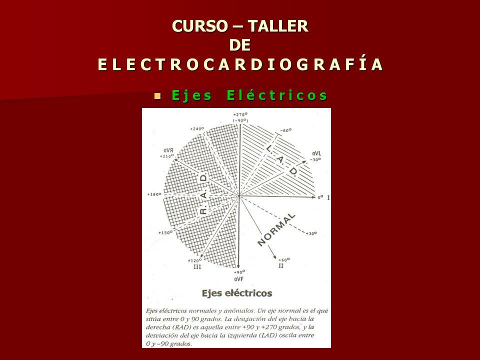 CURSO – TALLER DE E L E C T R O C A R D I O G R A F Í A E j e s E l é c t r i c o s E j e s E l é c t r i c o s