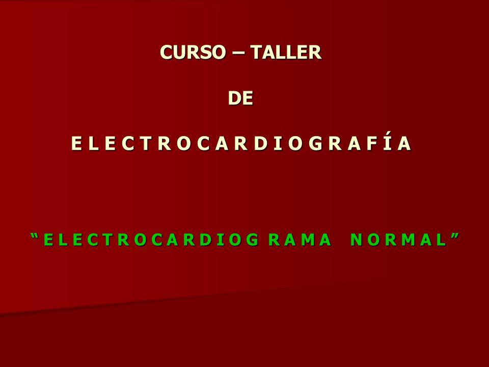 CURSO – TALLER DE E L E C T R O C A R D I O G R A F Í A Para ser un buen E l e c t r o c a r d i o g r a f i s t a Ser humilde .