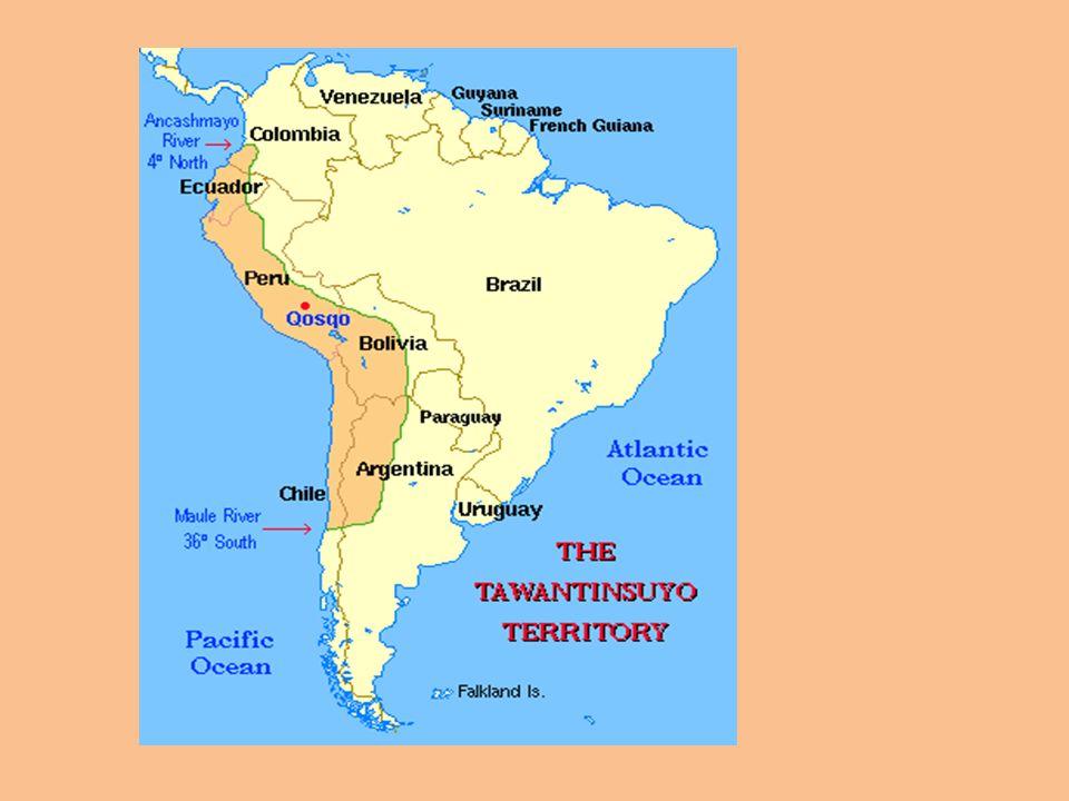 LIMITES DEL IMPERIO INCAICO Las fronteras del Imperio, alrededor de esta época fueron: -Norte : Río Ancasmayo, Al norte de la ciudad de Pasto (Colombia) -Nor-Este : La selva amazónica entre la corriente del Perú, Bolivia y Brasil.