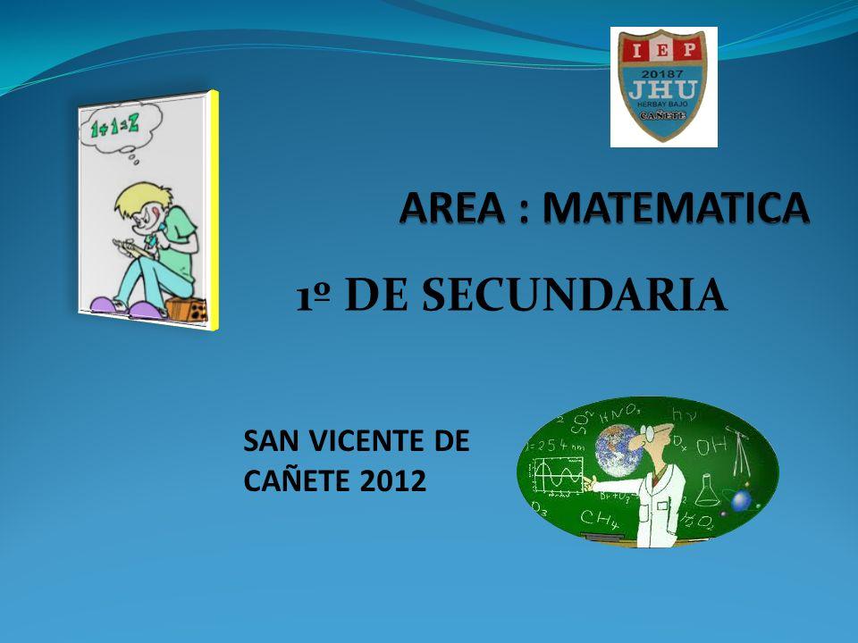 1º DE SECUNDARIA SAN VICENTE DE CAÑETE 2012