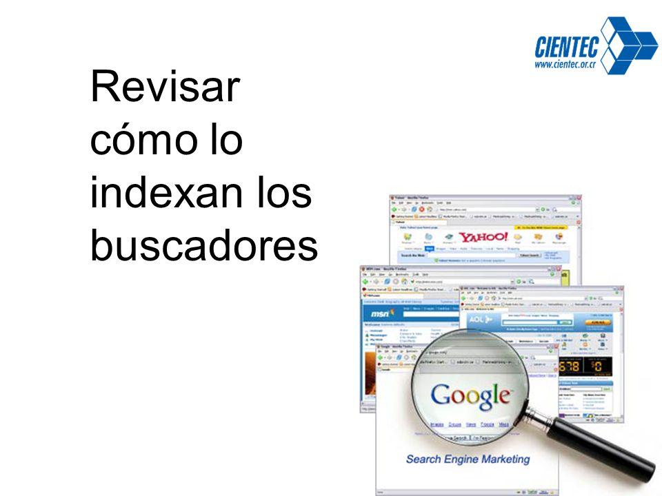 Revisar cómo lo indexan los buscadores