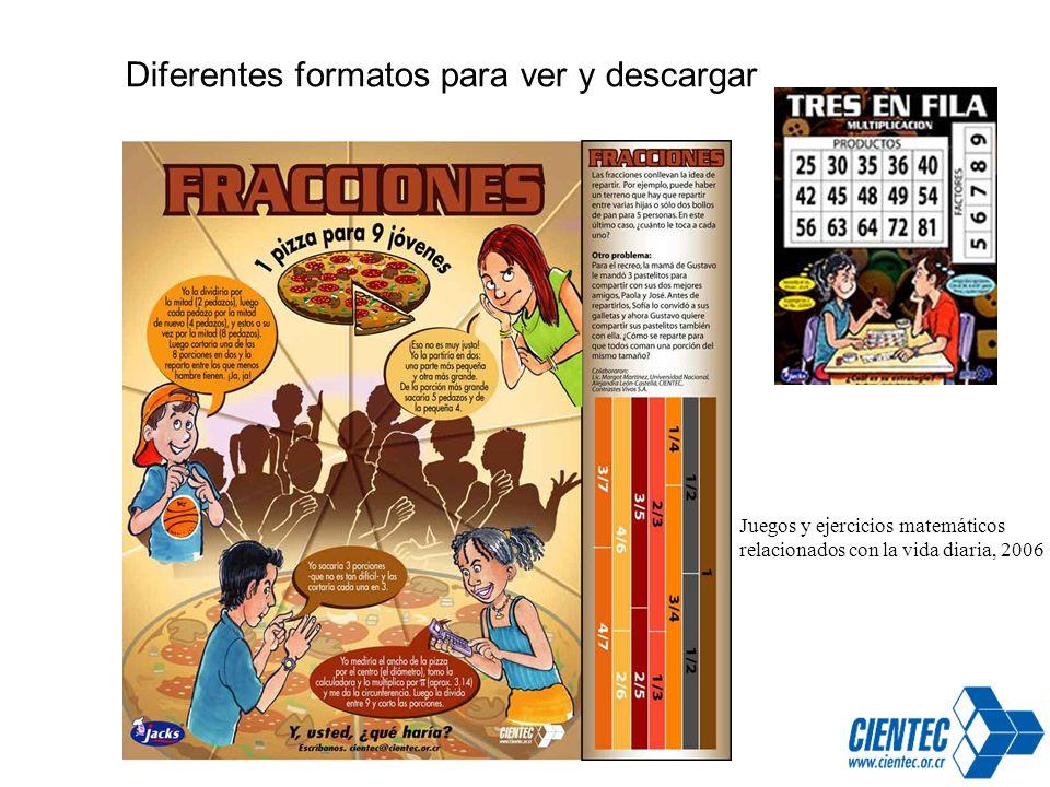 Juegos y ejercicios matemáticos relacionados con la vida diaria, 2006 Diferentes formatos para ver y descargar