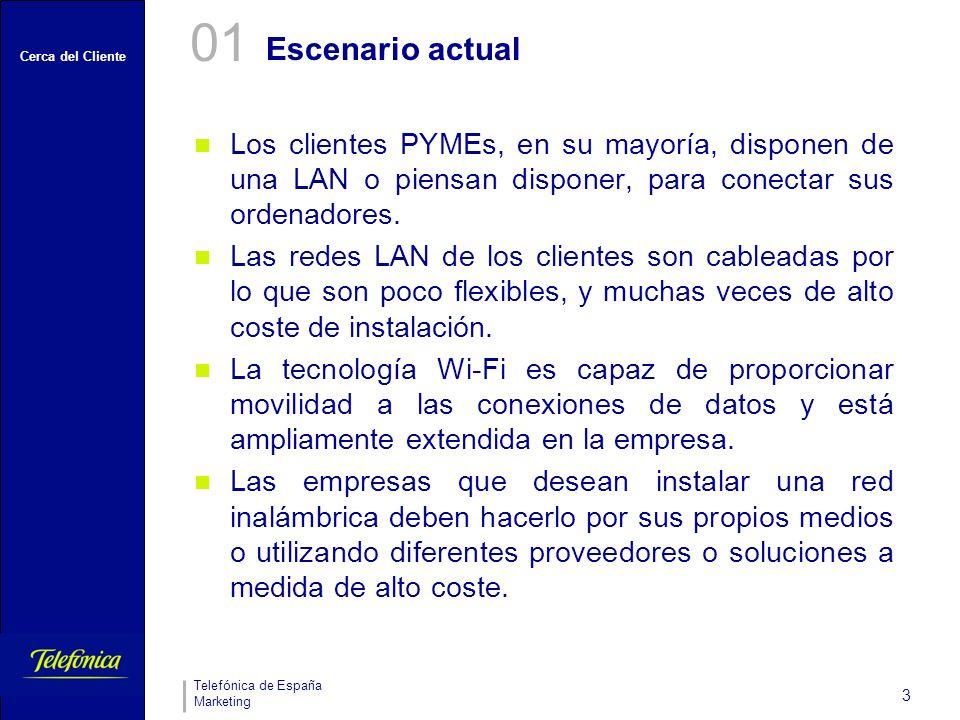 Cerca del Cliente Telefónica de España Marketing 3 Los clientes PYMEs, en su mayoría, disponen de una LAN o piensan disponer, para conectar sus ordenadores.
