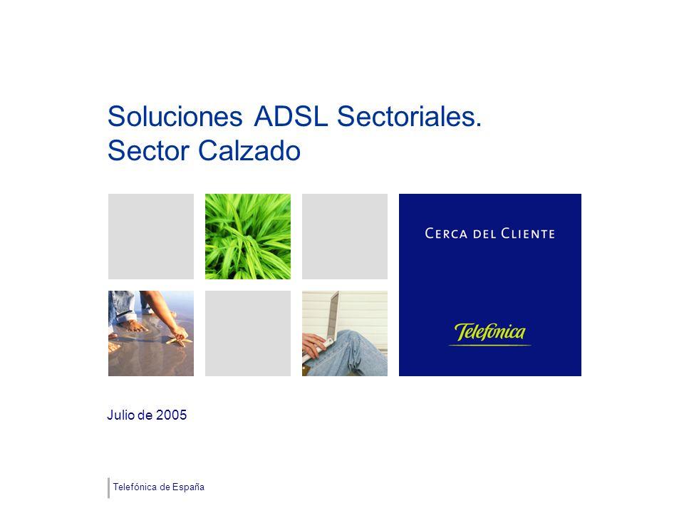 Telefónica de España Soluciones ADSL Sectoriales. Sector Calzado Julio de 2005