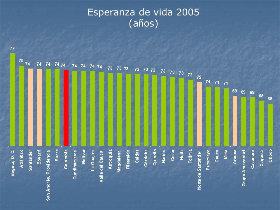Esperanza de vida 2005 (a ñ os)