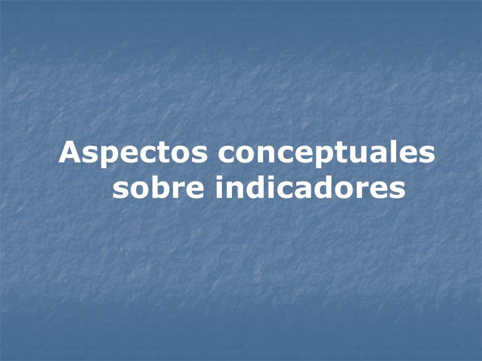 Aspectos conceptuales sobre indicadores