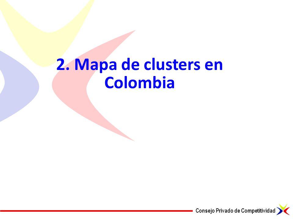 Consejo Privado de Competitividad 2. Mapa de clusters en Colombia