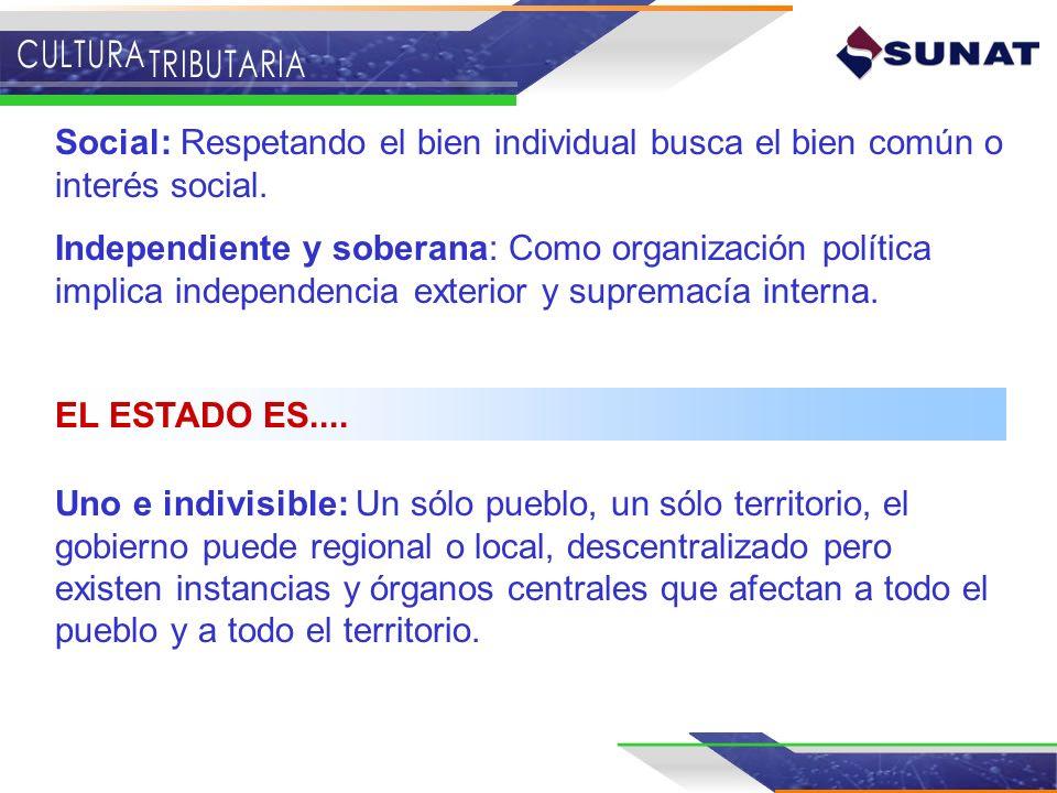 Uno e indivisible: Un sólo pueblo, un sólo territorio, el gobierno puede regional o local, descentralizado pero existen instancias y órganos centrales