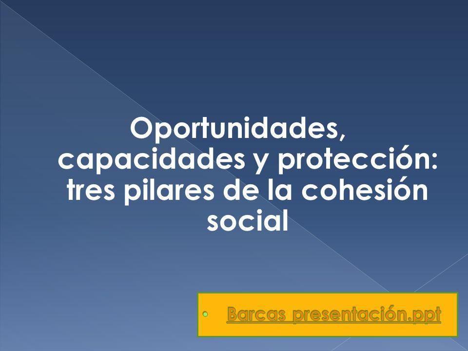Oportunidades, capacidades y protección: tres pilares de la cohesión social