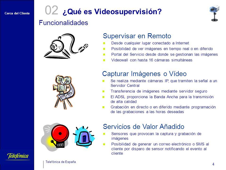 Cerca del Cliente Telefónica de España 4 ¿Qué es Videosupervisión.