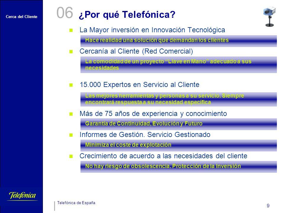 Cerca del Cliente Telefónica de España 9 ¿Por qué Telefónica.